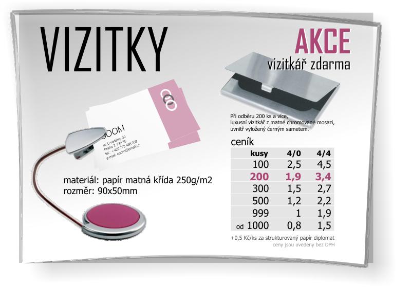 Tiskařské služby, tisk vizitky Opava, Ostrava