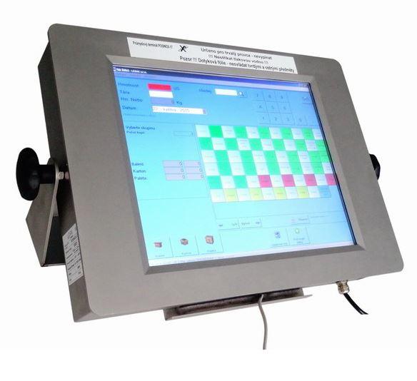 Průmyslové váhové terminály s dotykovým LCD displejem do každého provozu
