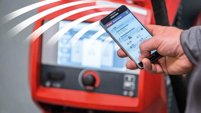 Digitální produkty - svařovací technika Praha – ovládání pomocí smartphonu či tabletu