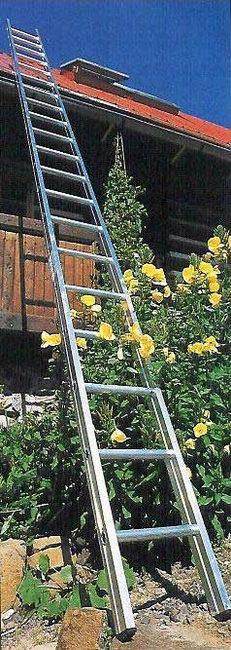 Hliníkový žebřík na zahradu