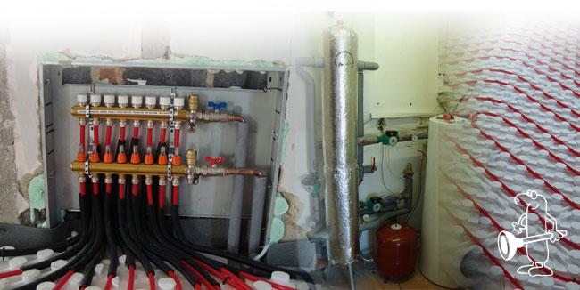 Rekonstrukce topení, topných systémů a kotelen, topenářské práce