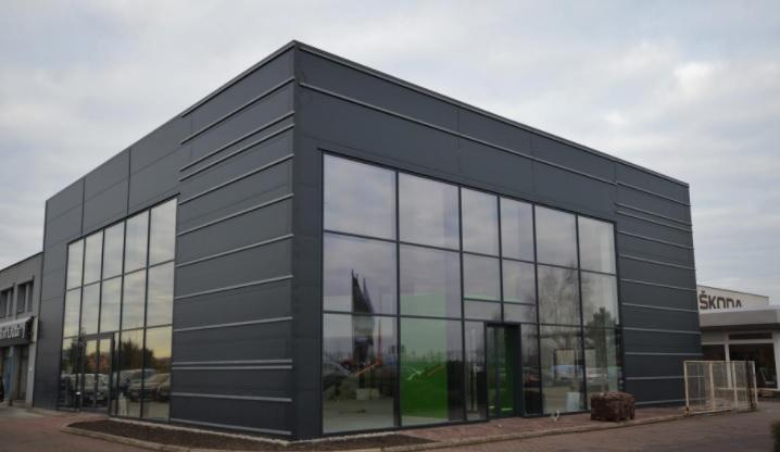 Montované autosalony, autoservisy a STK budovy z ocelových konstrukcí