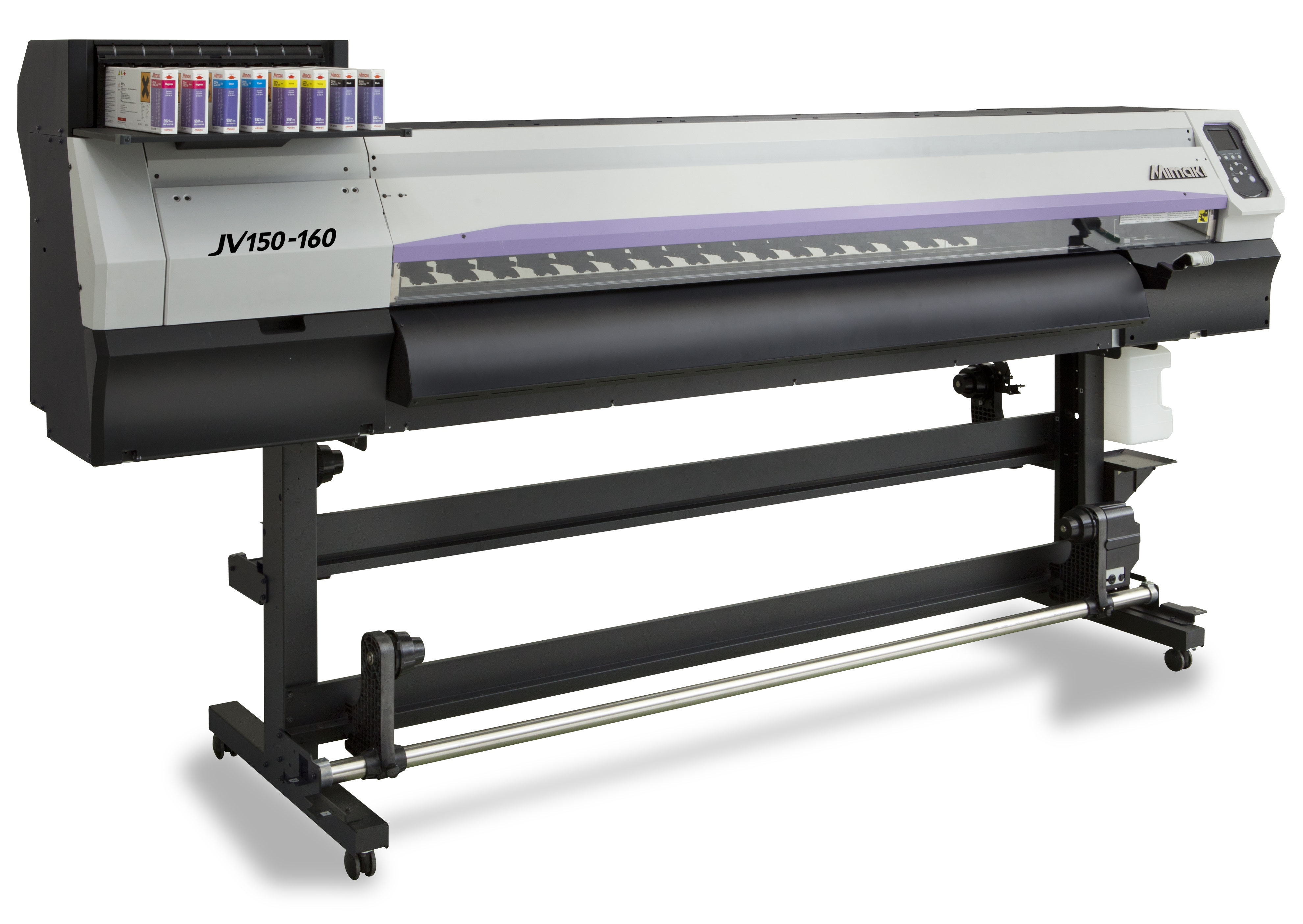 Vysoko výkonná veľkoplošná solventná tlačiareň Mimaki JV150 pre profesionálne využitie