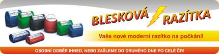 Blesková razítka, výroba razítek Olomouc, Prostějov