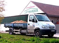 Doprava písku Nymburk -  pomocí nákladního auta AVIA s kontejnery