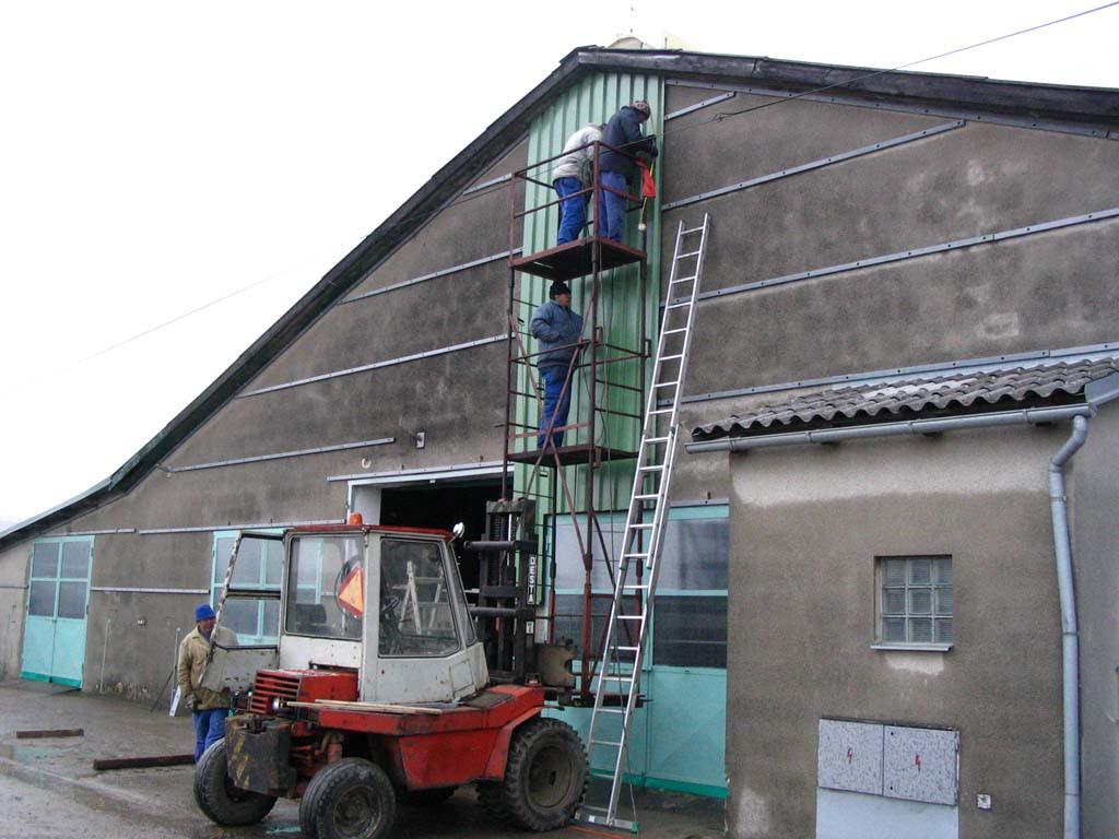 Výroba ocelových hal a konstrukcí