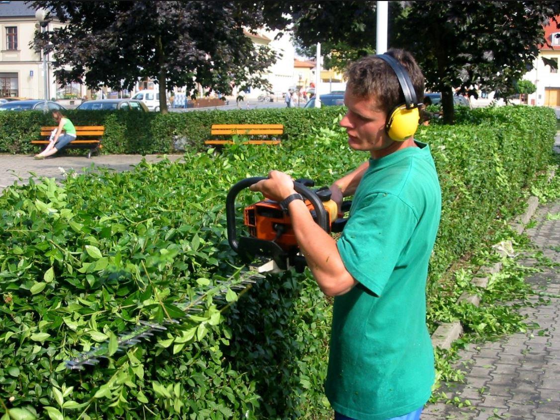 Kompletní údržba zeleně - úklid ploch zeleně, TS Valašské Meziříčí