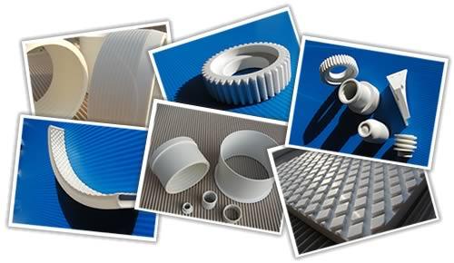 Třískové obrábění plastů, výroba kluzných ložisek a vedení z bezúdržbového materiálu ZEDEX®