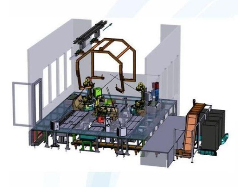 Automatické robotické aplikace, špičkové robotické stanice pro povrchové úpravy kovů