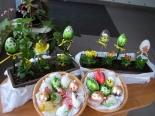 Velikonoční ozdoby, dekorace, baňky, vajíčka, růční výroba