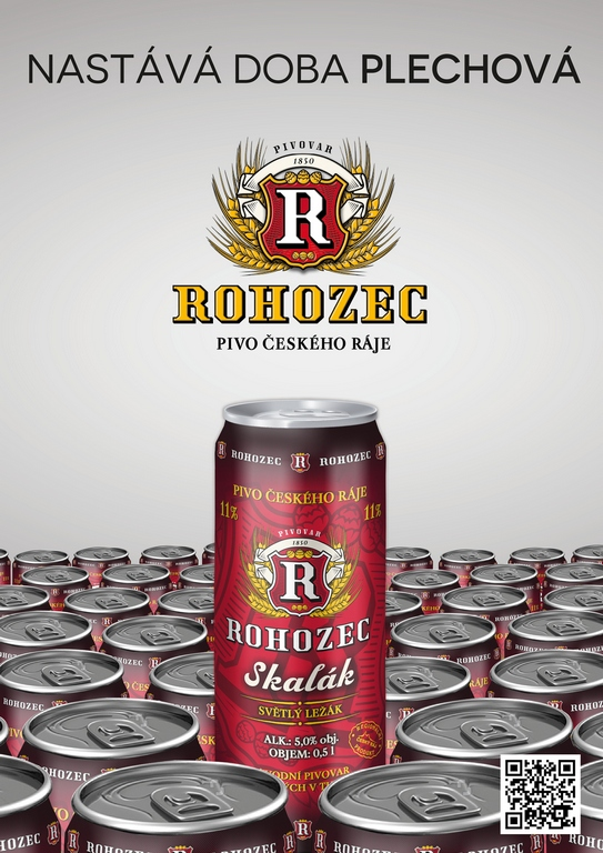 Novinka pivovaru Rohozec - pivo Skalák v plechu – světlý ležák sbalený na cesty