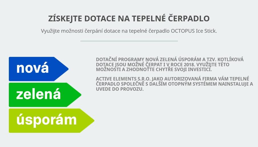 Dotace na tepelné čerpadlo Octopus z programu Zelená úsporám