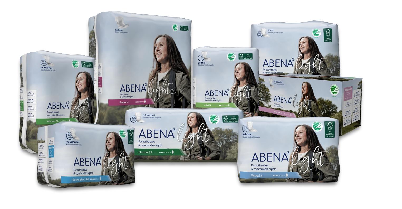 Inkontinenční vložky ABENA Light pro lehký únik moči