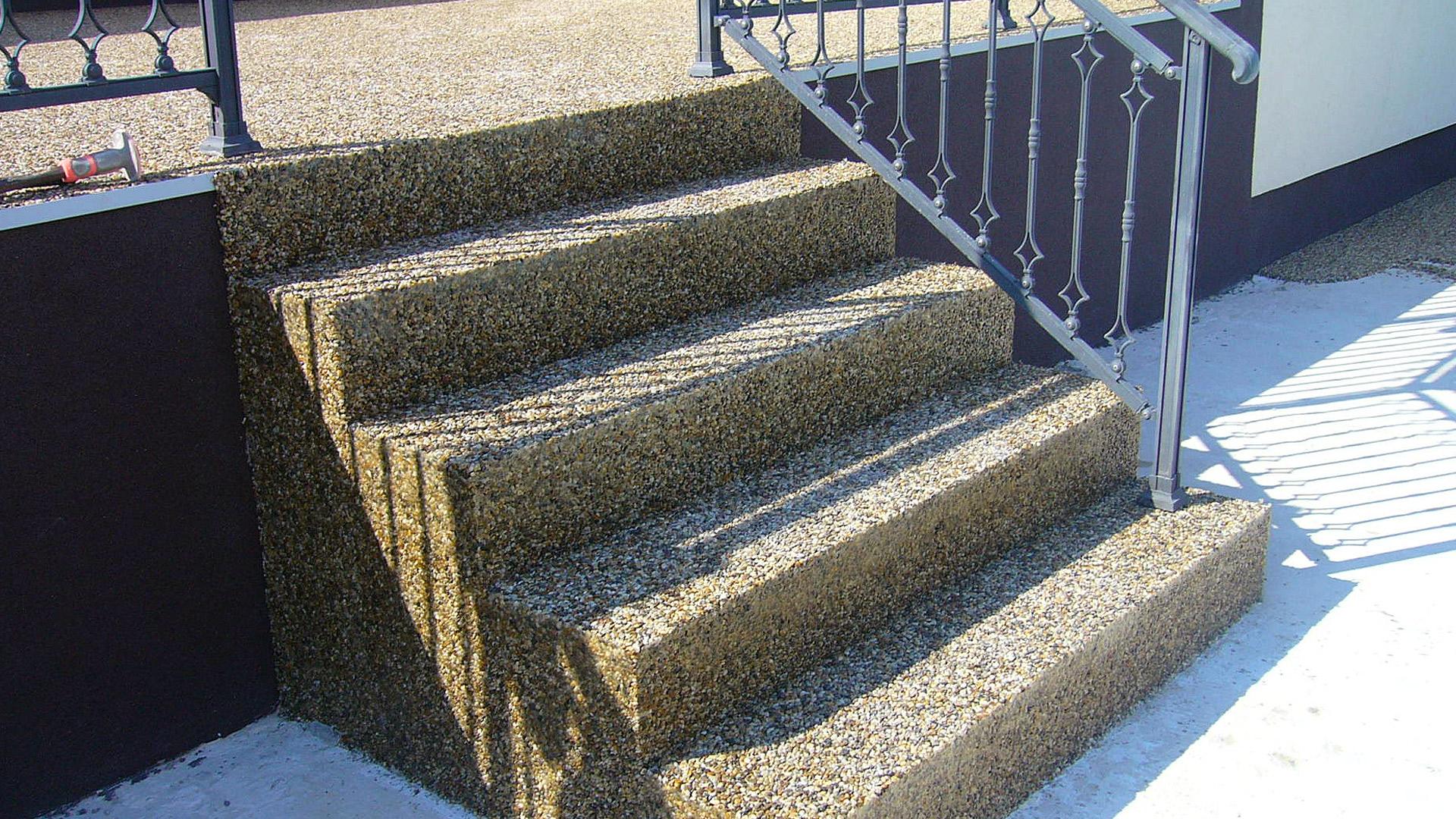 Epoxidové lité podlahy na schody