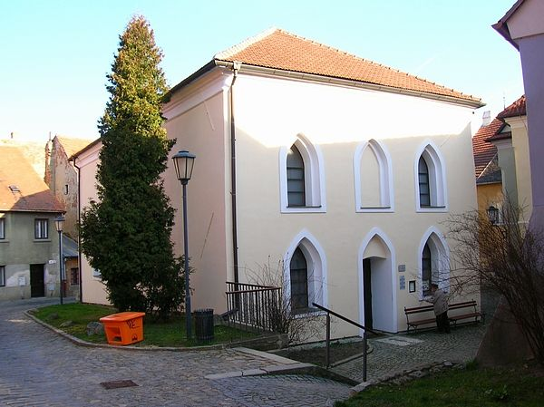 Zrekonstruovaná fasáda synagogy v Třebíči