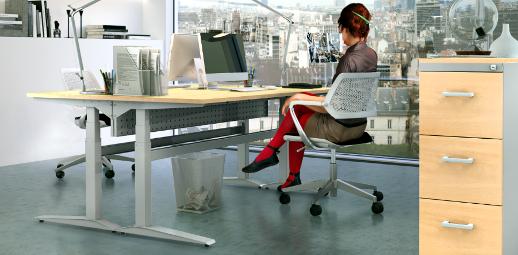 Ergonomické výškově nastavitelné stoly ALNAK®