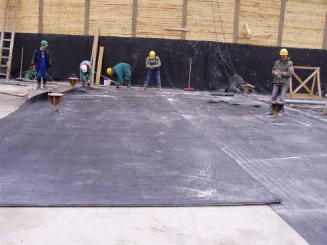 Rychlá instalace dvojité bentonitové rohože