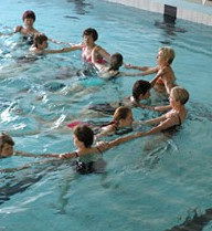 Vodní aerobik, plavání batolat Šumperk