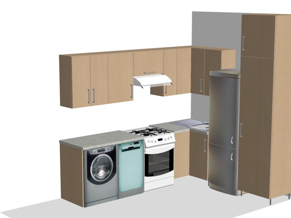Vizualizace kuchyně DK projekt