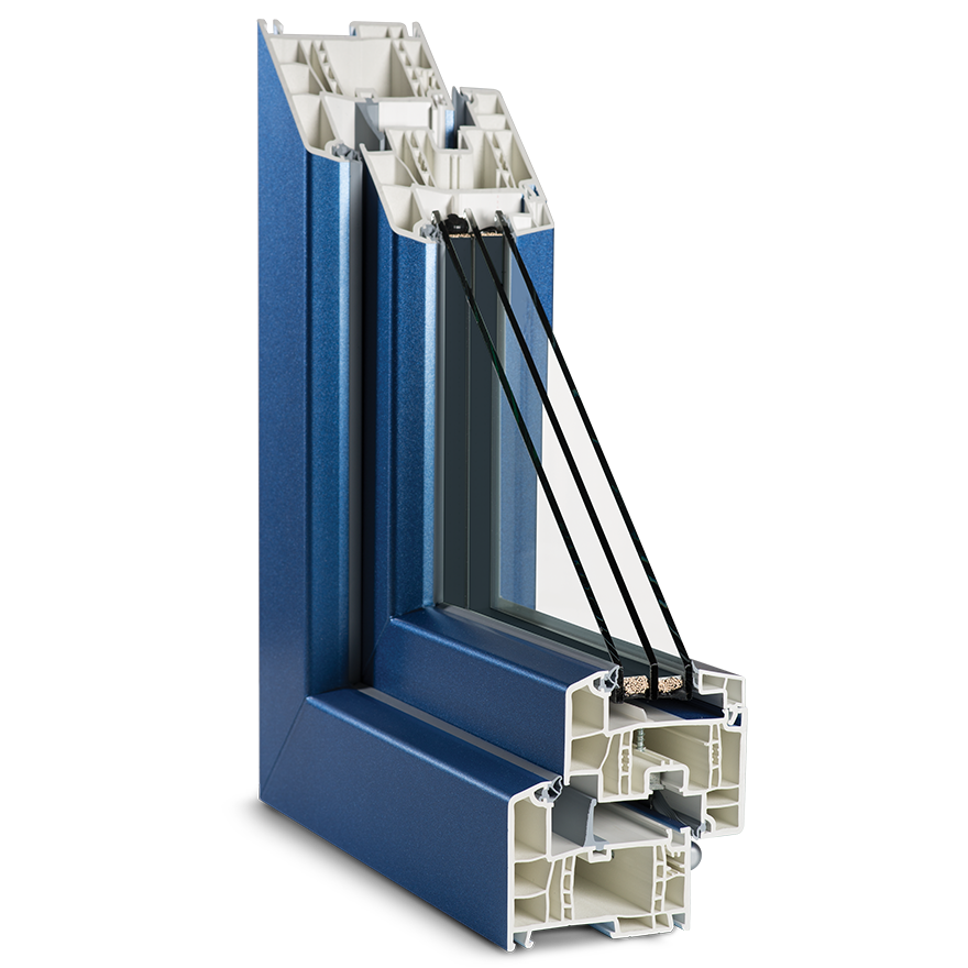 Průřez plastová okna Geneo