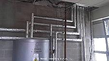 NOVAL Industry s.r.o., přípojky vody, plynu a topení