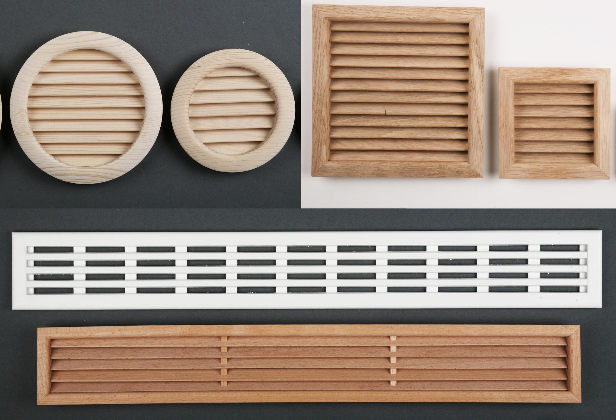 Drevené vetracie a ozdobné mriežky z masívneho dreva vysokej kvality, dodávka, predaj