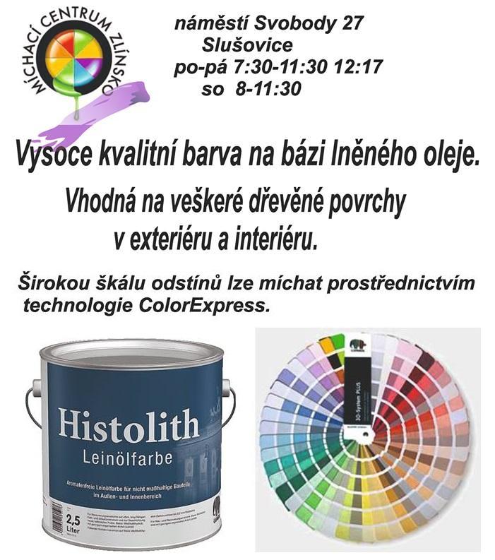 Barva na dřevo Histolith Leinölfarbe - prodej Zlín, Vsetín