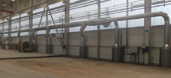 dodávka filtračního systému pro celoplošné odsávání