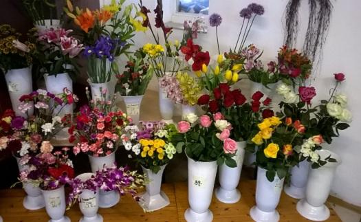 Řezané květiny a vazba květin