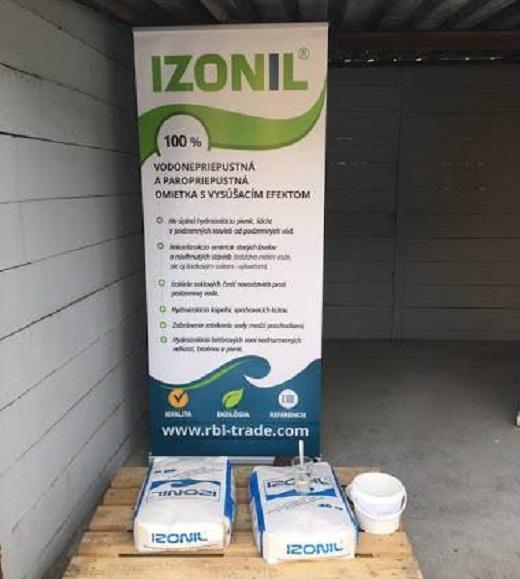 Omítka IZONIL Hard - vodě odolná suchá omítková směs