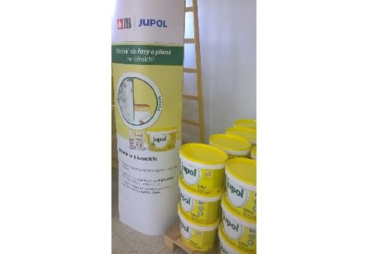 Bílá protiplísňová barva Jupol na plísně a řasy - barva vhodná do kuchyní, jídelen, koupelen a jiných sanitárních prostor