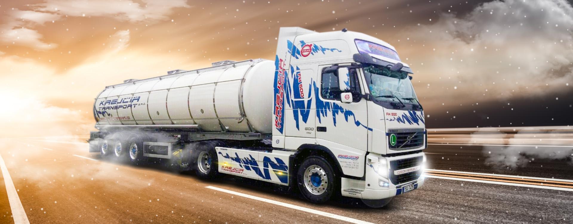 Cisternová přeprava potravin a tekutého nákladu v rámci celé EU, přeprava zásilek