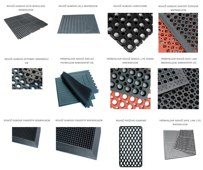 Čistiace rohože gumové, textilné, priemyselné, schodové, špeciálne, bazénové, dezinfekčné - e-shop ČR