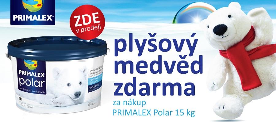Interiérový bílý nátěr Primalex POLAR s bílým medvědem zdarma