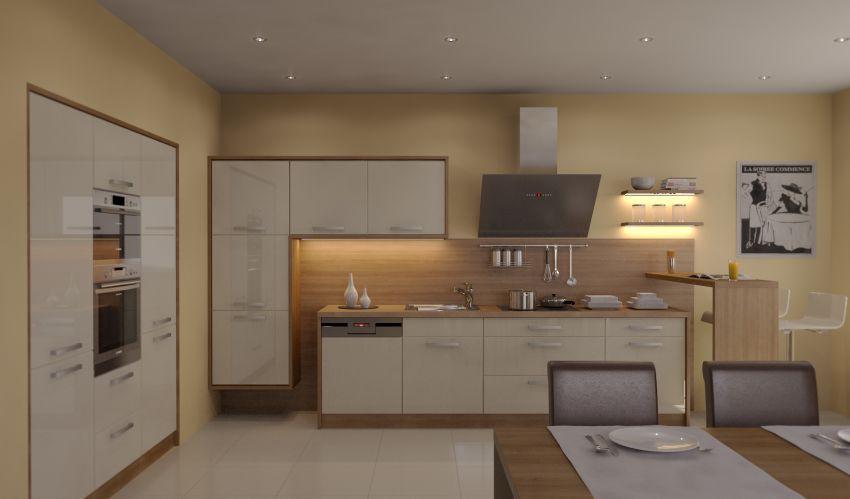 Moderní kuchyňské studio - kuchyně na míru, 3D návrhy