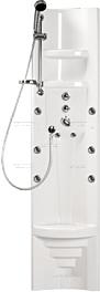 Masážní sprchový panel - bílá, PAMO THERM