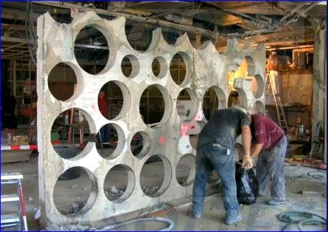 Přesná perforace betonu