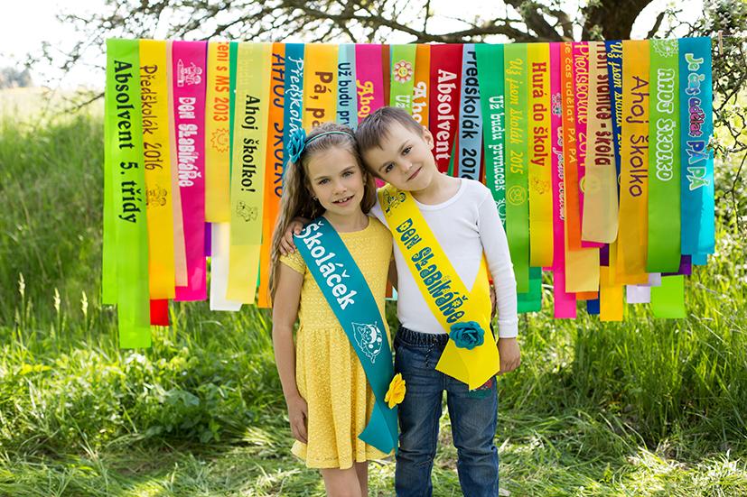 Luxusní šerpy pro školy a školky jako upomínka významných okamžiků života
