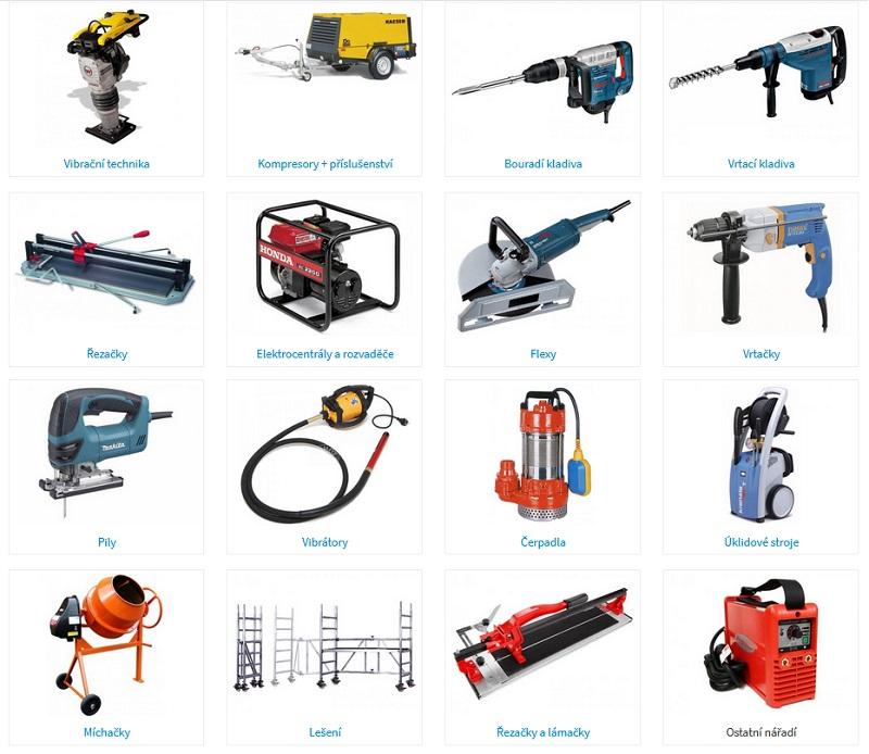 Půjčovna stavebního nářadí, drobné stavební mechanizace - výhodné zapůjčení na den, víkend