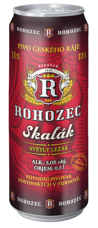 A new product of Rohozec Brewery – canned beer Skalák  - light lager in travel package the Czech Republic