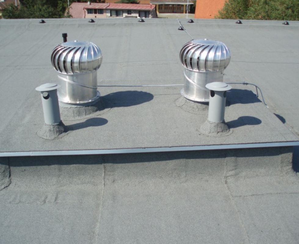 Údržba a rekonstrukce nadstřešních částí odvětrání budov
