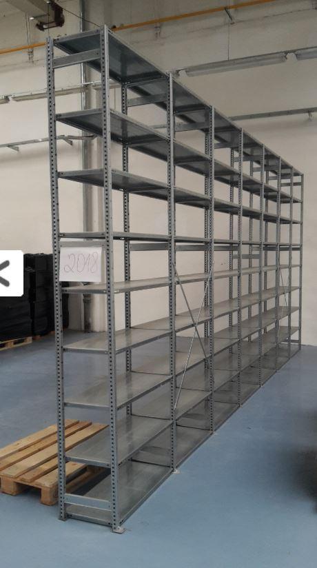 Bazar regálů - použité policové a archivní regály skladem za výhodnou akční cenu