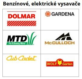 Zahradní vysavače listí elektrické, benzinové - prodej, servis Husqvarna, Dolmar, McCulloch
