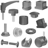 Plastové díly pro nábytek a kovovýrobu