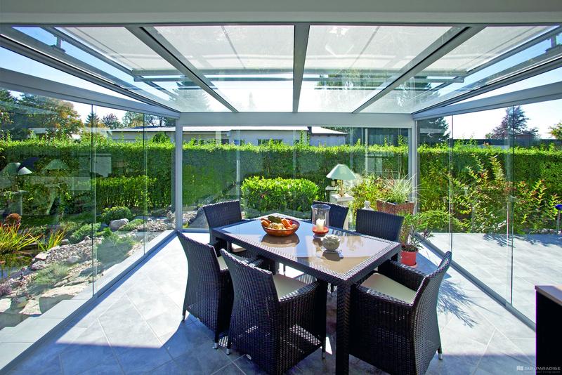 Rozšiřte svůj přístřešek či terasu na letní zahradu díky posuvnému systému GG 100 SLIDE
