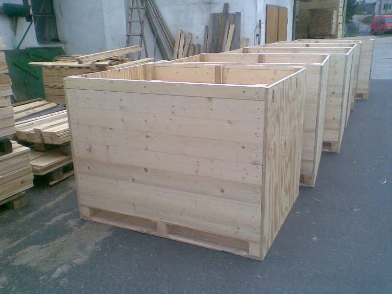 Dřevěné bedny pro uchovávání zeleniny