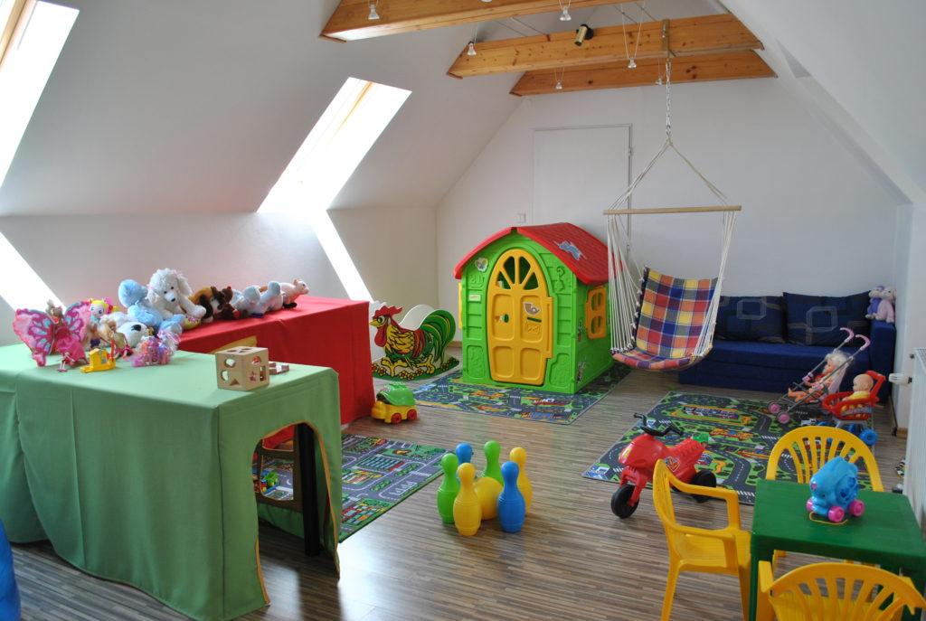 Dětská herna pro návštěvníky restaurace Hotel GONG Štramberk