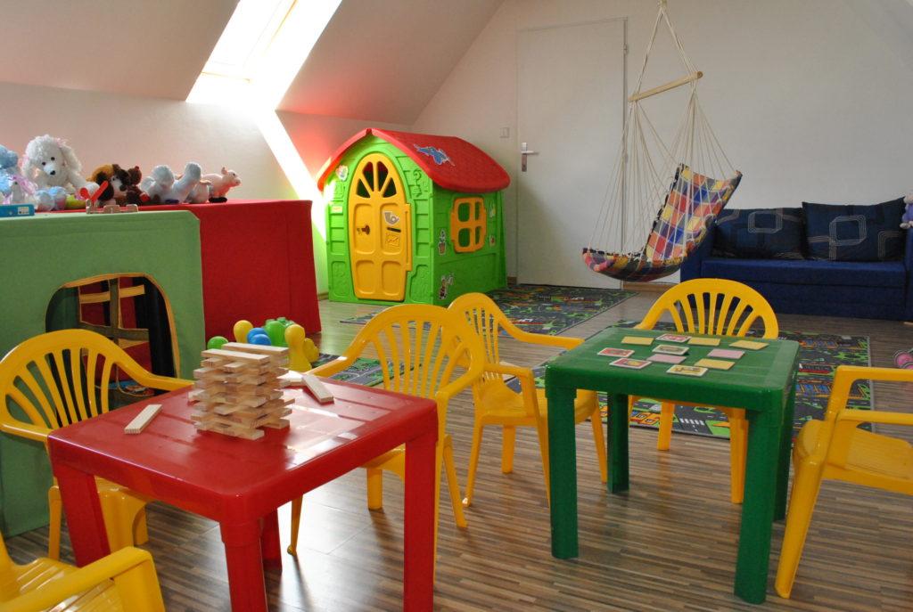 Děti v dětském koutku naleznou spoustu her