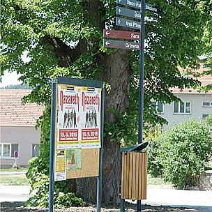 Mobiliář pro obce a města, lavičky, zastávky, informační systémy