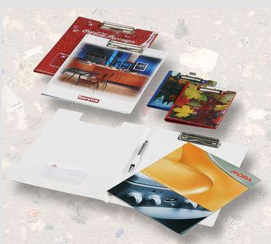 Konferenční desky pro obchodní zástupce s klipem – jednotná image firmy
